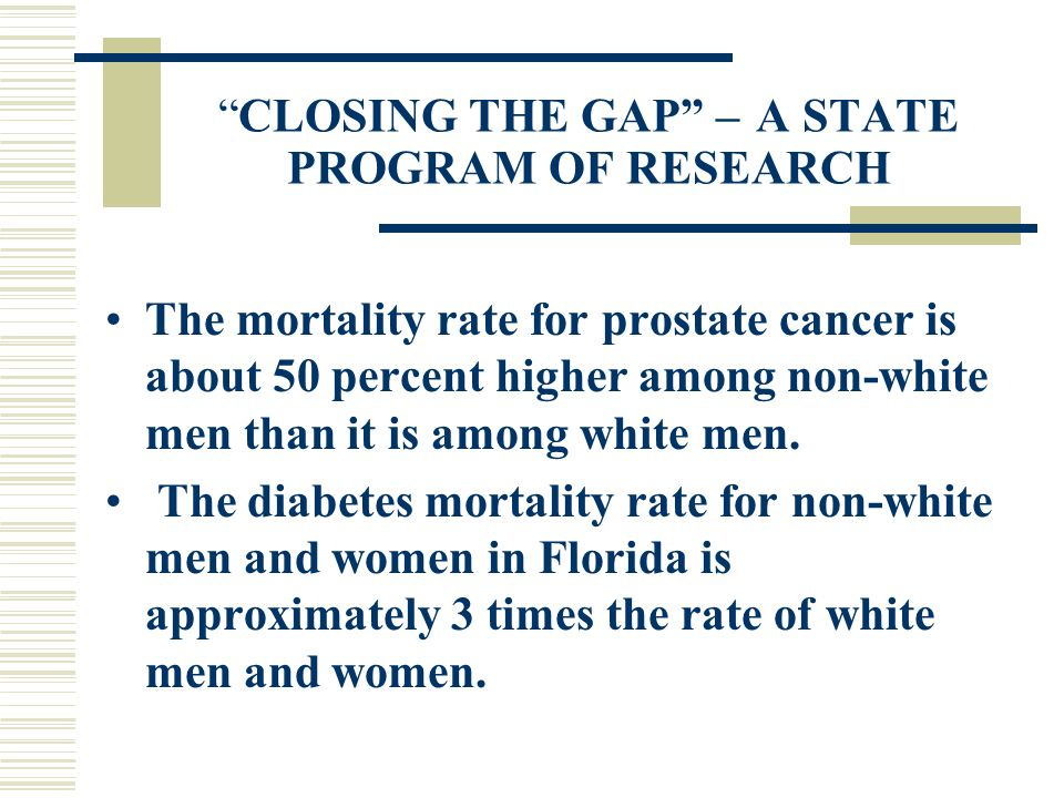 CLOSING THE GAP – A STATE PROGRAM OF RESEARCH