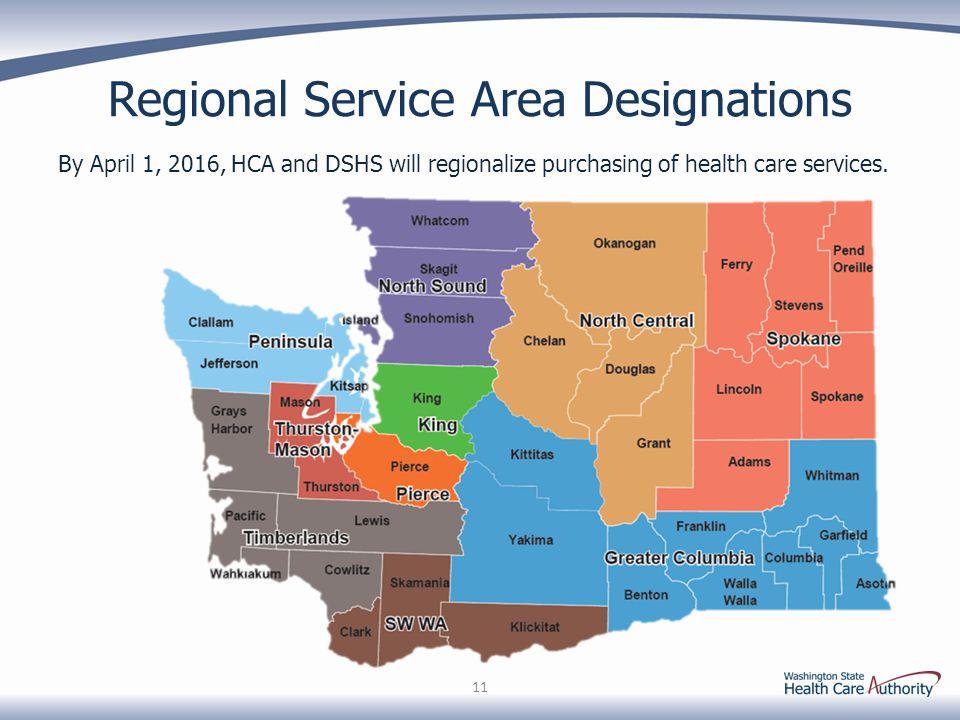 Regional Service Area Designations