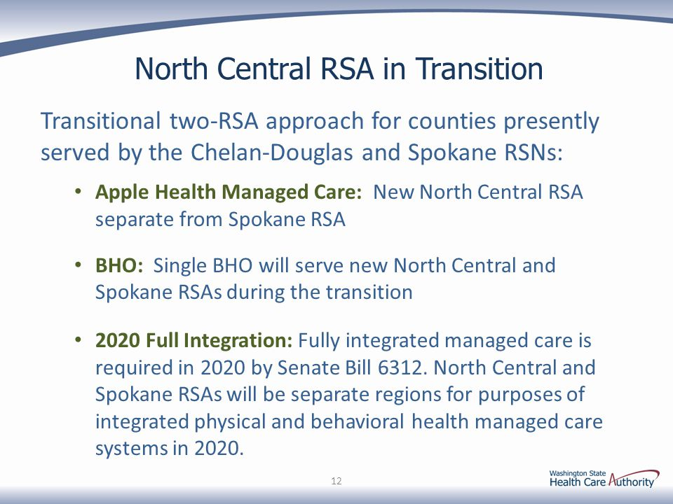 North Central RSA in Transition