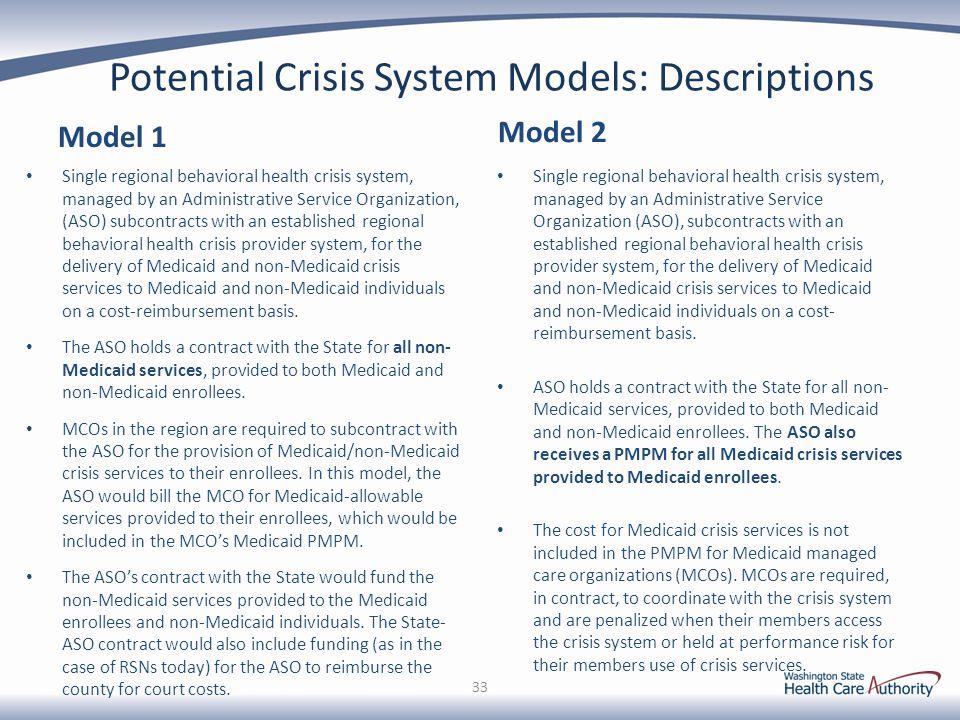 Potential Crisis System Models: Descriptions