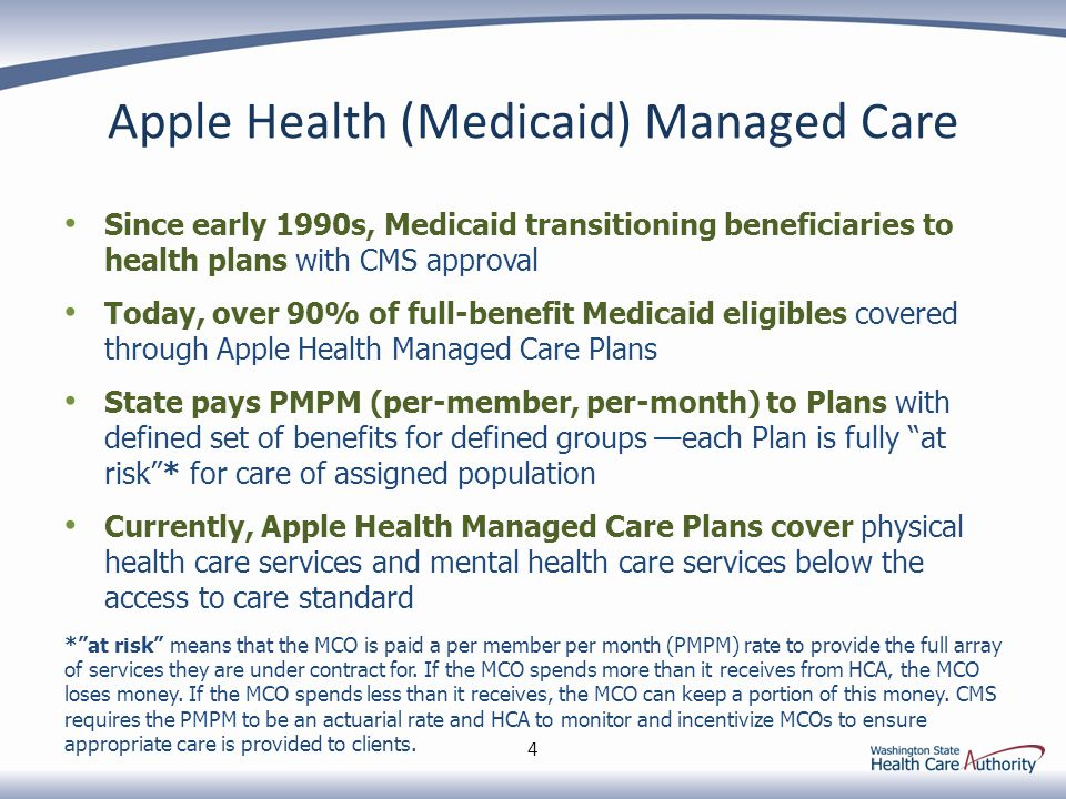Apple Health (Medicaid) Managed Care