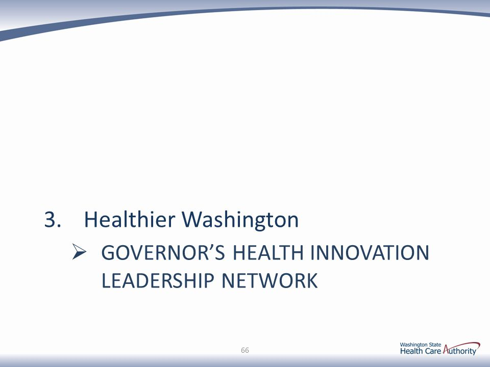Governor's Health Innovation Leadership Network