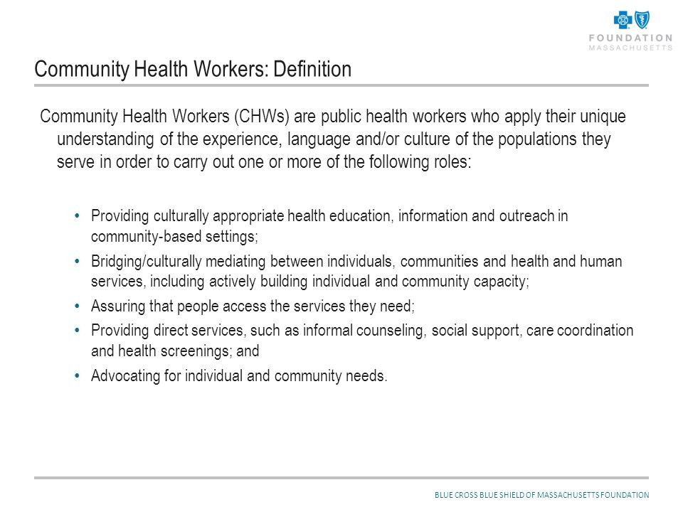 Community Health Workers and Recent Legislation: More and/or Different