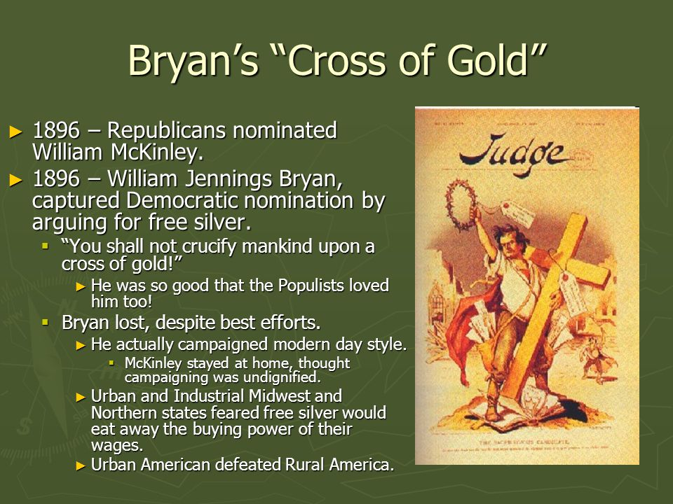 Bryan's Cross of Gold