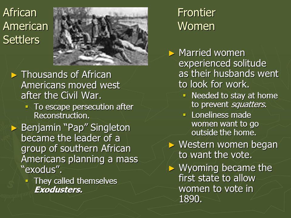 African Frontier American Women Settlers