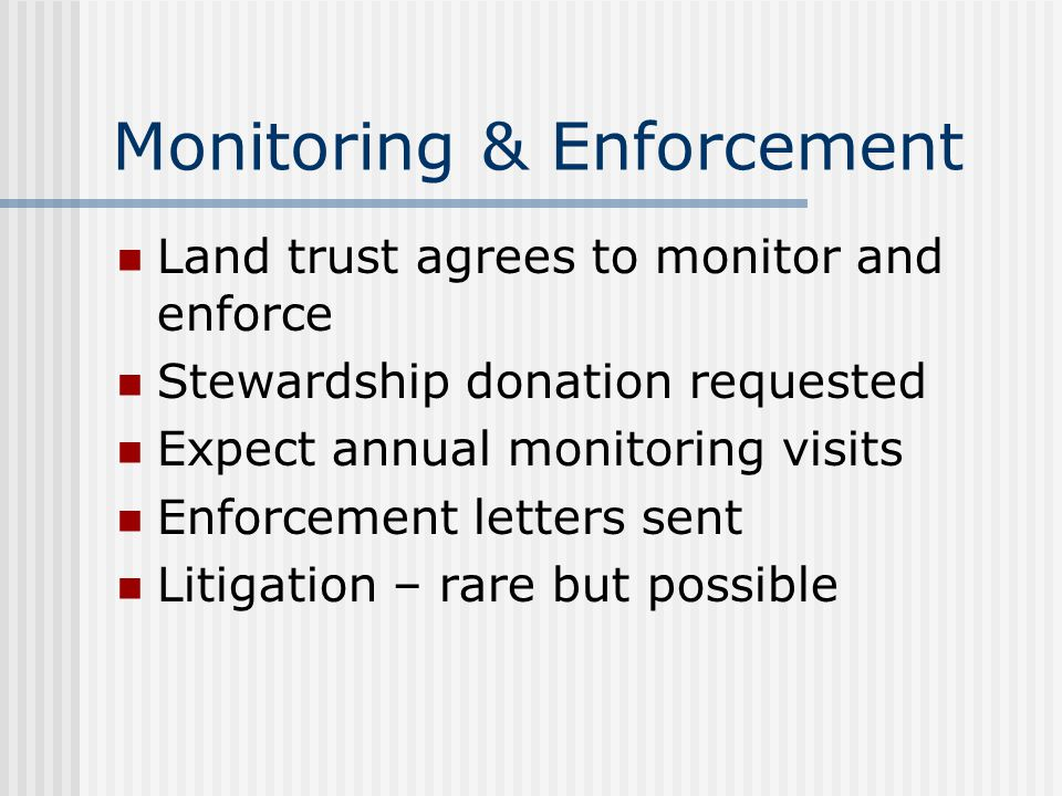 Monitoring & Enforcement