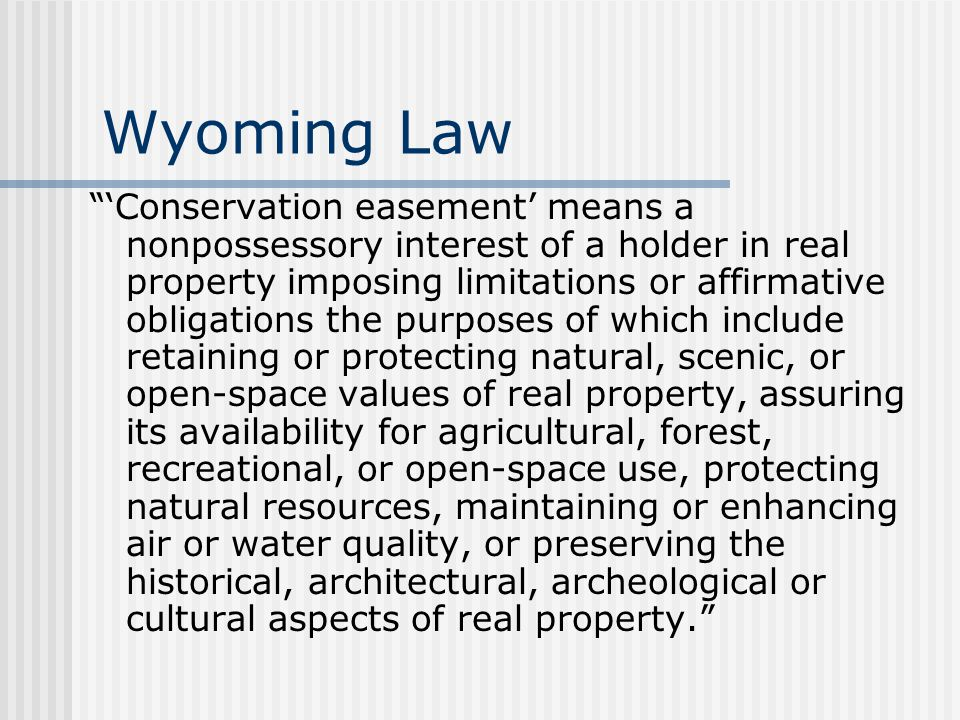 Wyoming Law