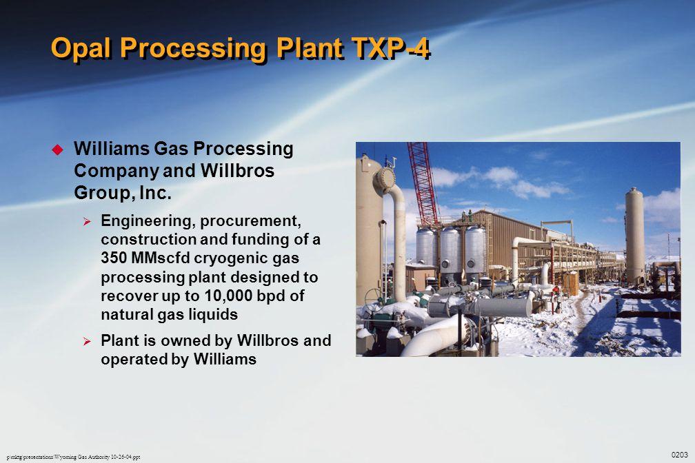 Opal Processing Plant TXP-4