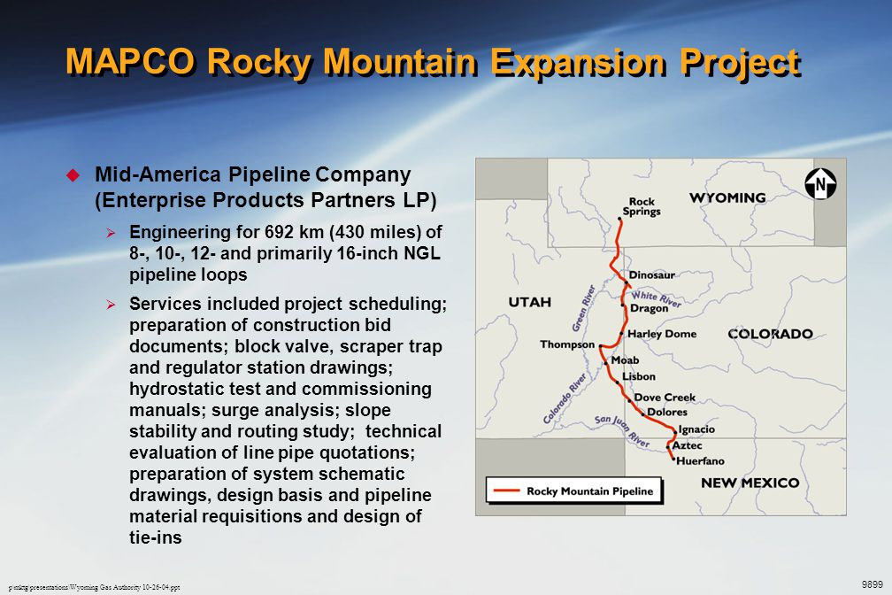 MAPCO Rocky Mountain Expansion Project