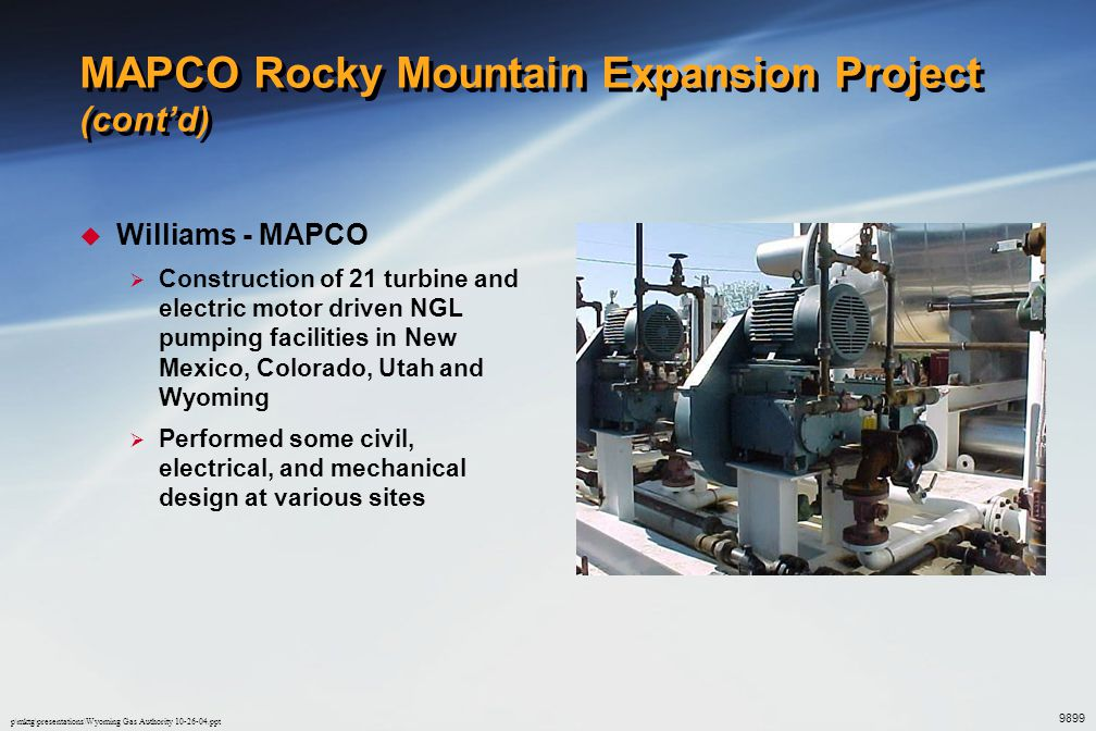MAPCO Rocky Mountain Expansion Project (cont'd)