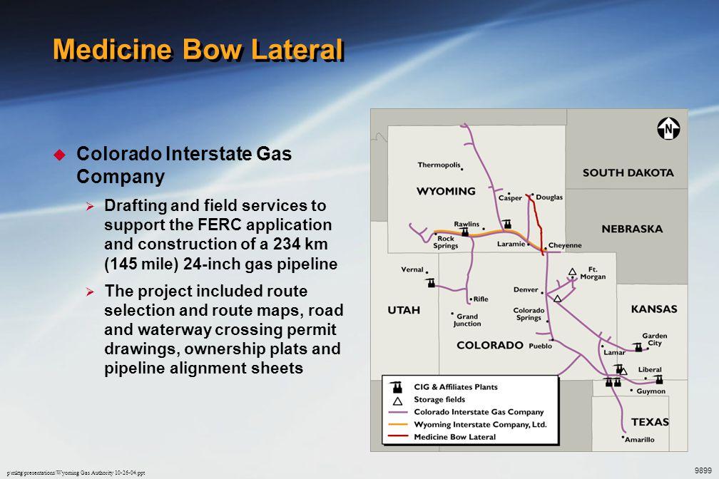 Medicine Bow Lateral Colorado Interstate Gas Company
