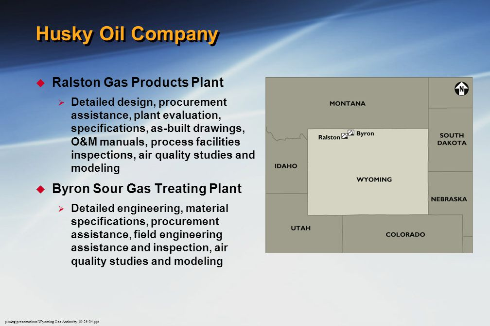 Husky Oil Company Ralston Gas Products Plant