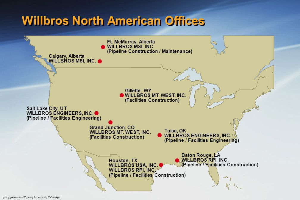 Willbros North American Offices