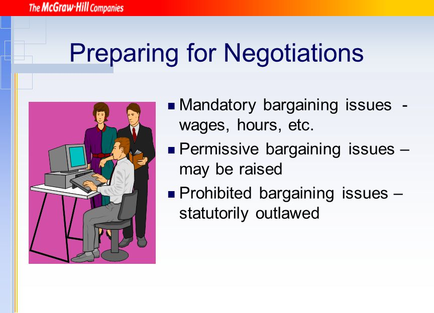 Preparing for Negotiations