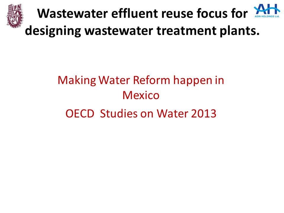 Making Water Reform happen in Mexico OECD Studies on Water 2013