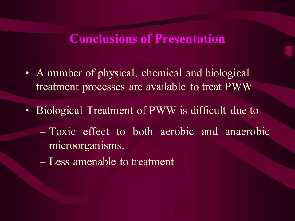 Conclusions of Presentation