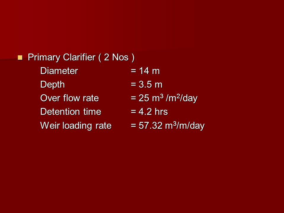 Primary Clarifier ( 2 Nos )
