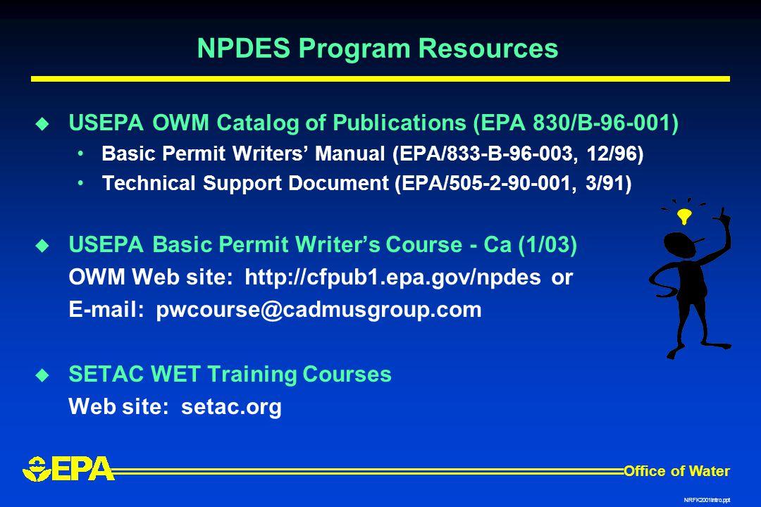 NPDES Program Resources