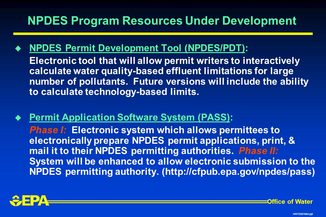 NPDES Program Resources Under Development