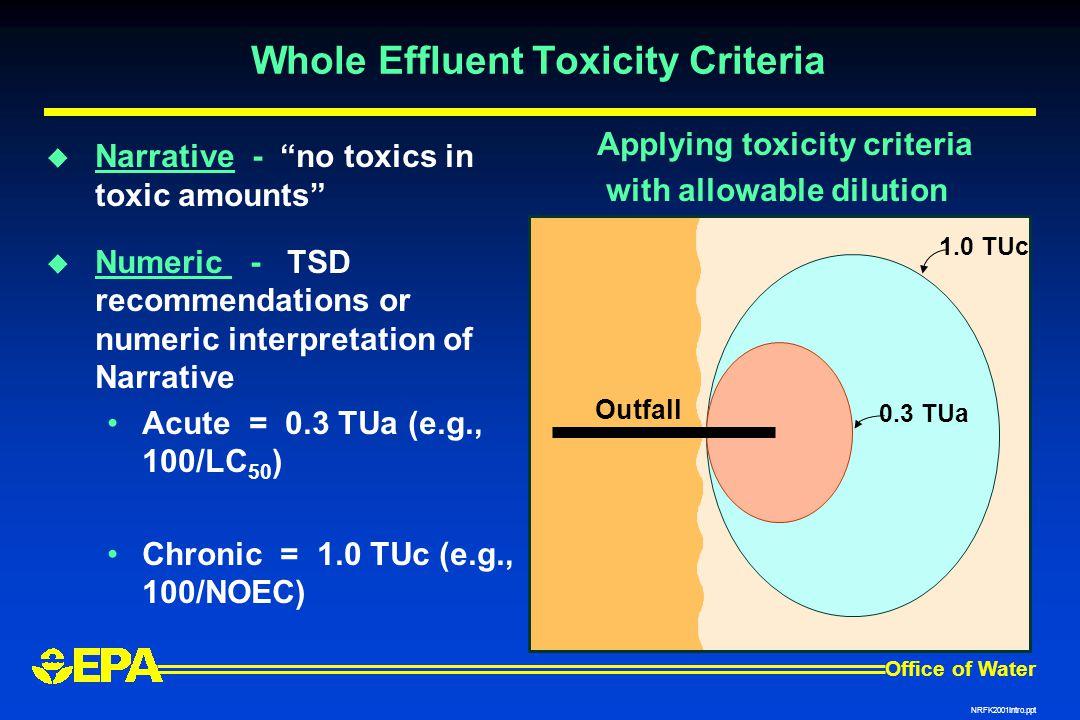 Whole Effluent Toxicity Criteria