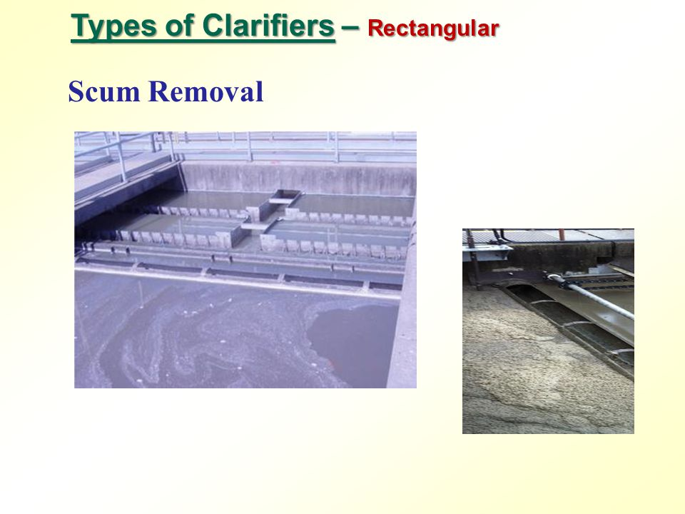 Types of Clarifiers – Rectangular