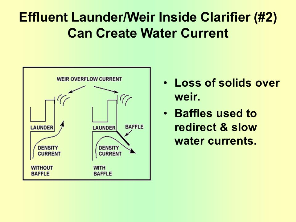 Effluent Launder/Weir Inside Clarifier (#2) Can Create Water Current