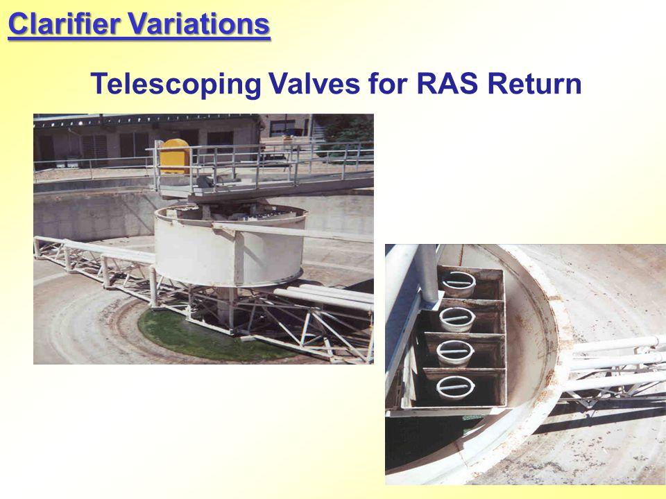 Clarifier Variations Telescoping Valves for RAS Return
