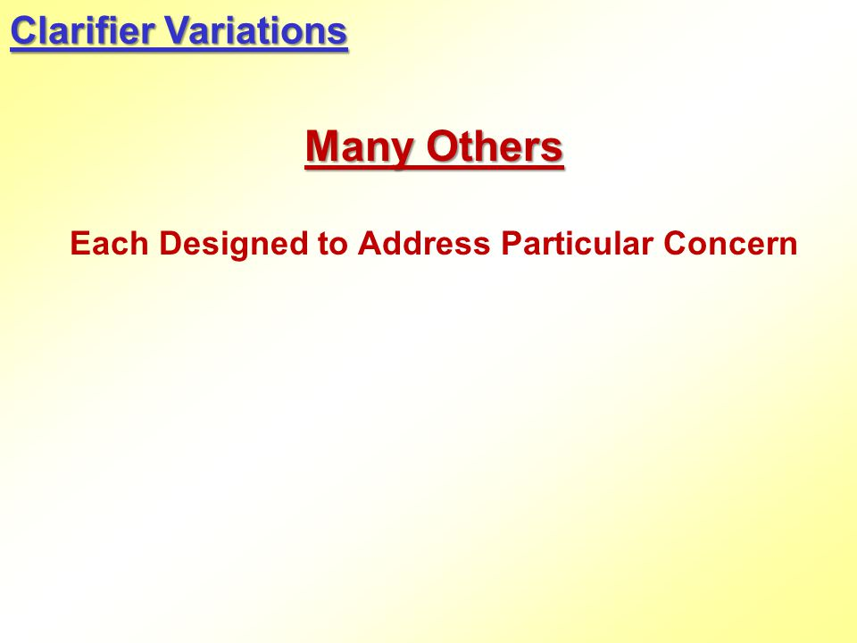 Each Designed to Address Particular Concern