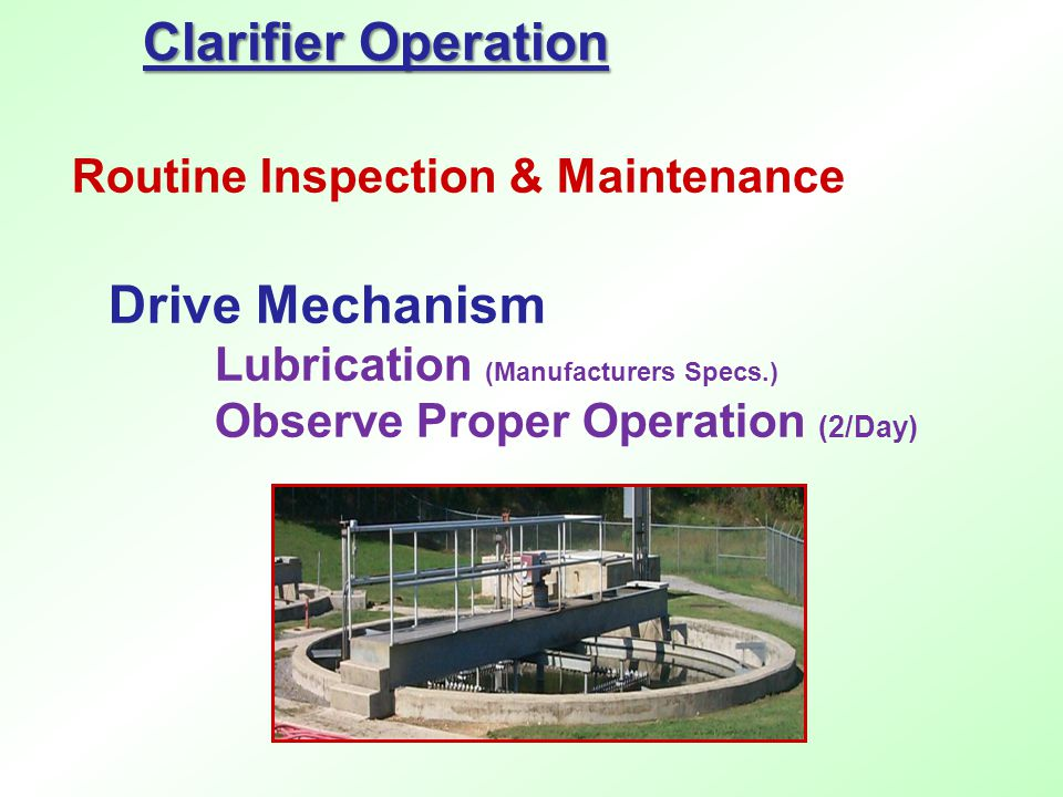 Routine Inspection & Maintenance