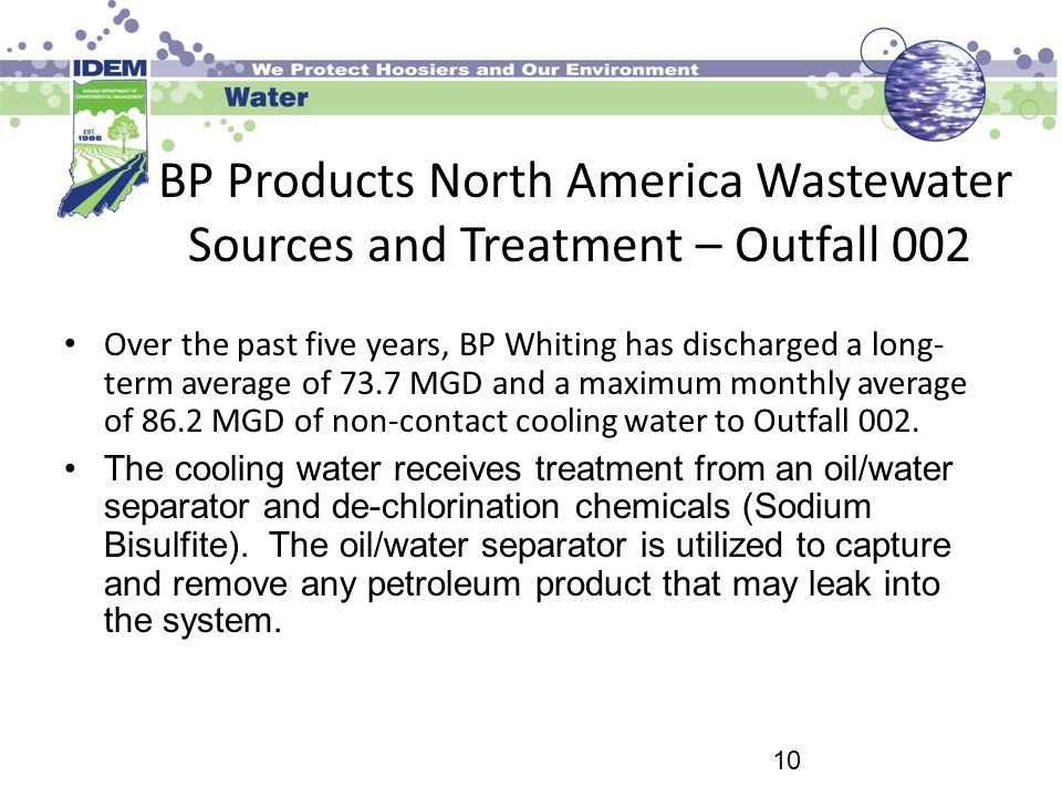 BP Products North America Wastewater Sources and Treatment – Outfall 002