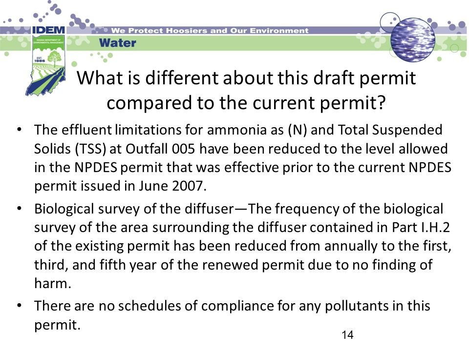 What is different about this draft permit compared to the current permit