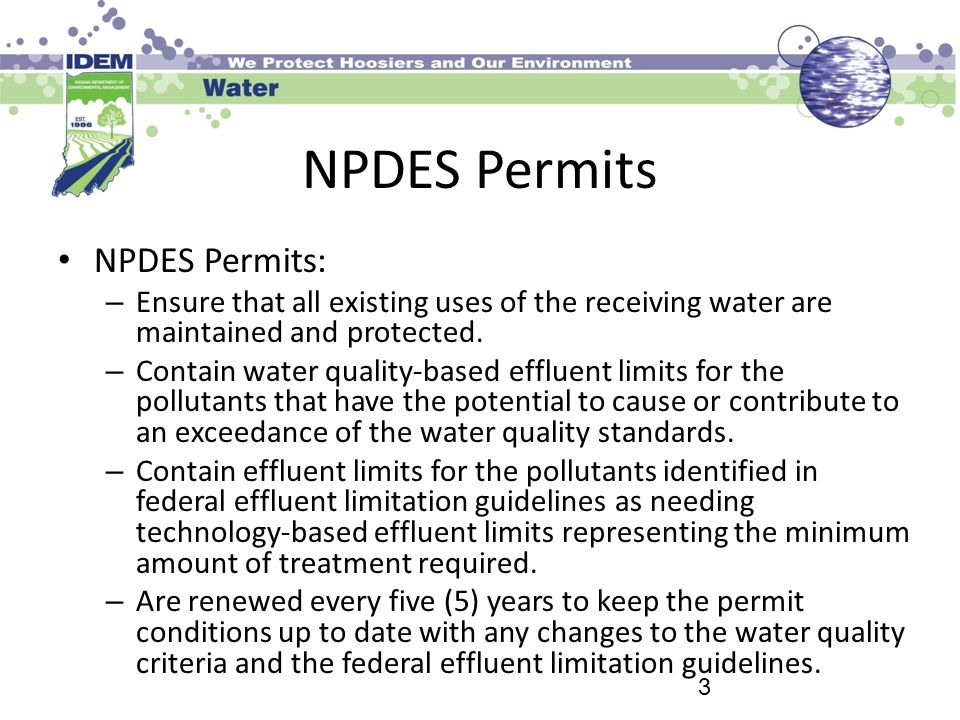 NPDES Permits NPDES Permits: