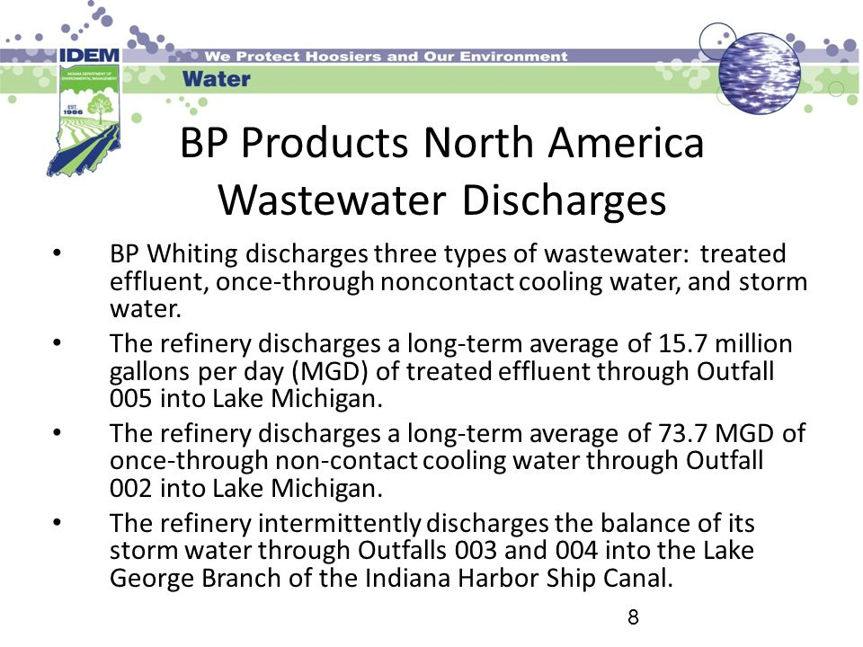 BP Products North America Wastewater Discharges