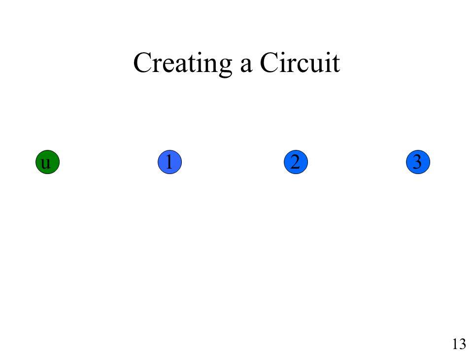 Creating a Circuit u 1 2 3 13