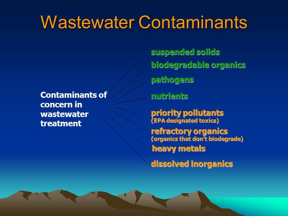 Wastewater Contaminants
