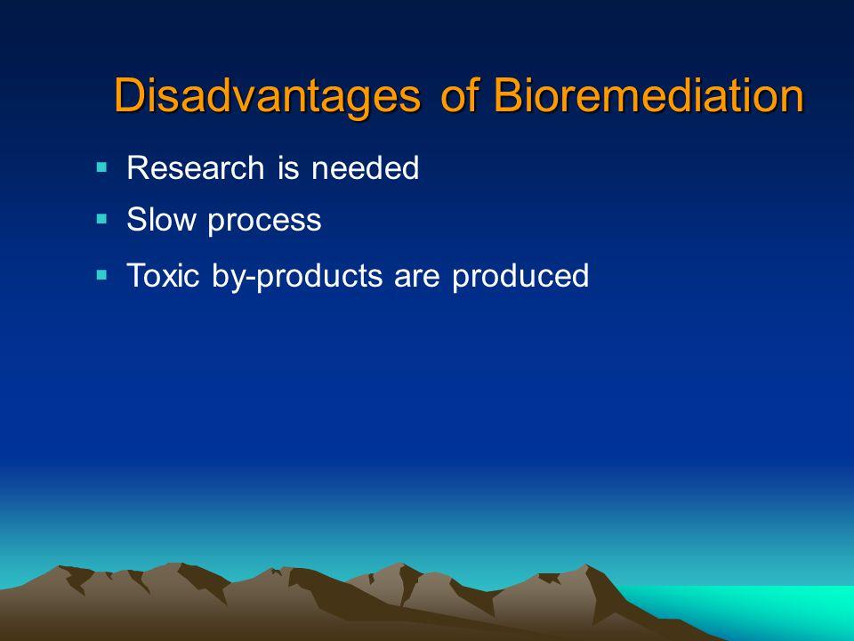 Disadvantages of Bioremediation