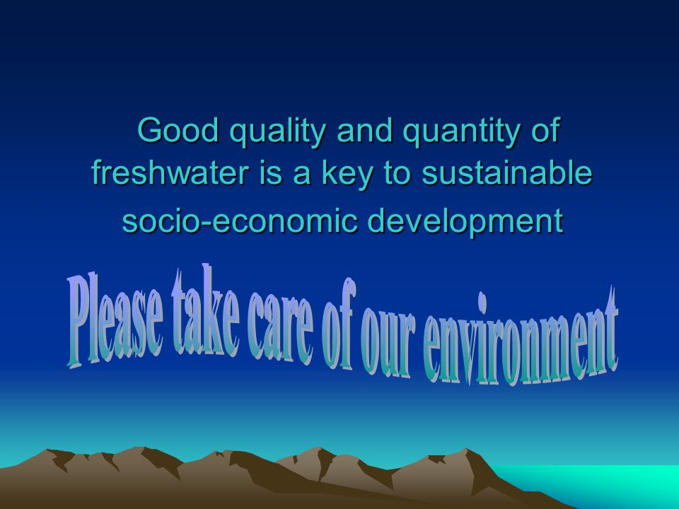 Please take care of our environment