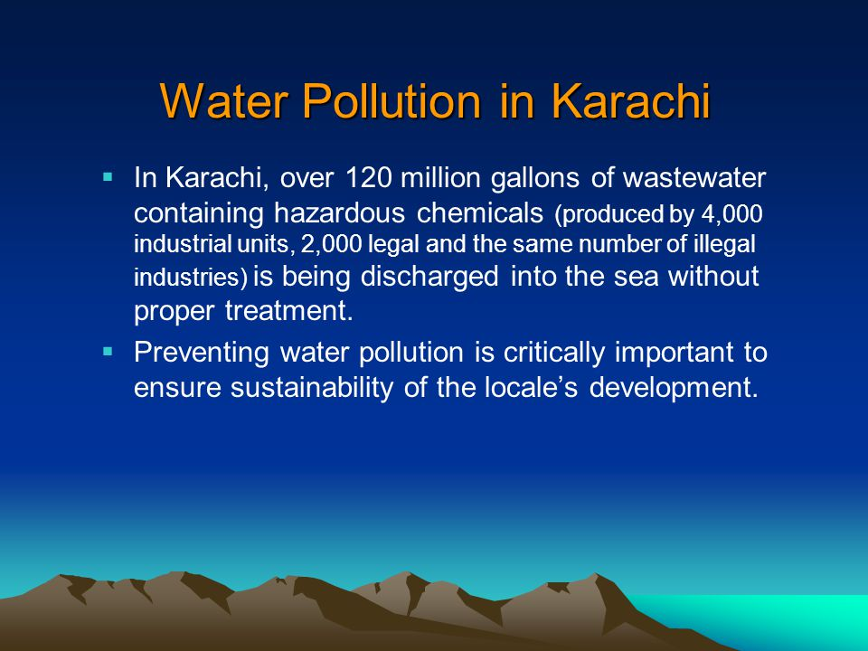 Water Pollution in Karachi