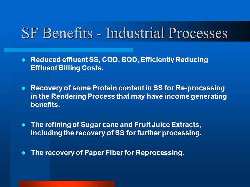 SF Benefits - Industrial Processes