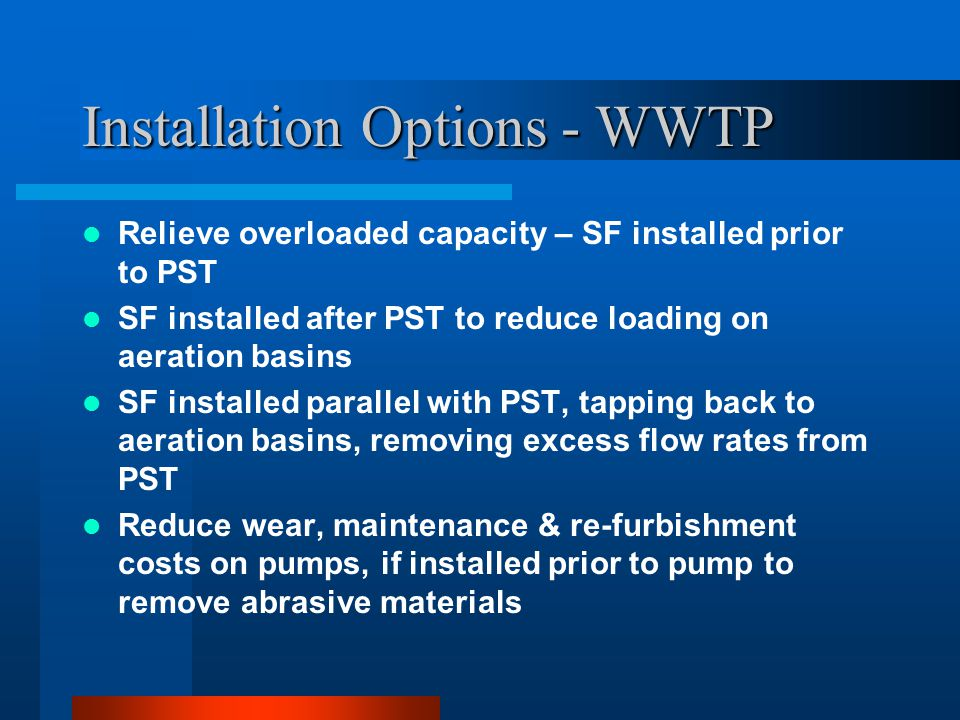 Installation Options - WWTP