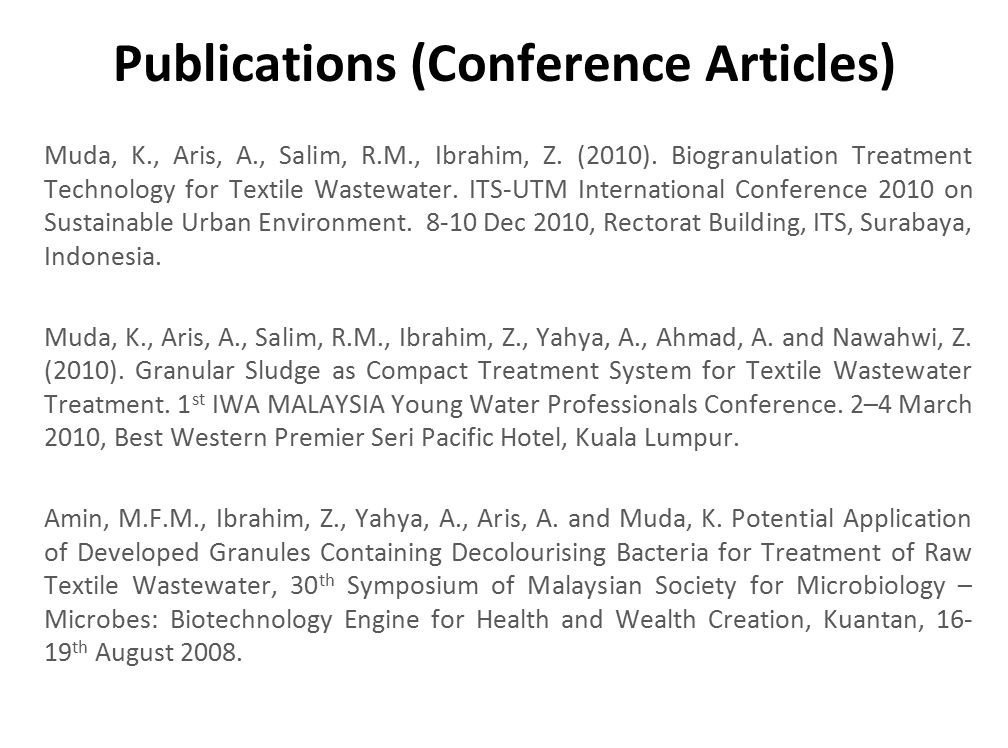 Publications (Conference Articles)