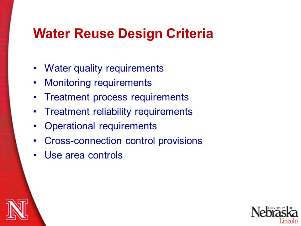 Water Reuse Design Criteria