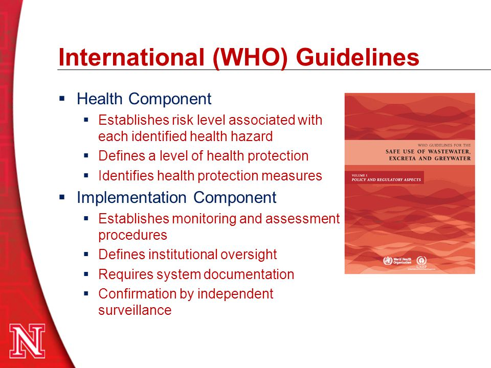 International (WHO) Guidelines