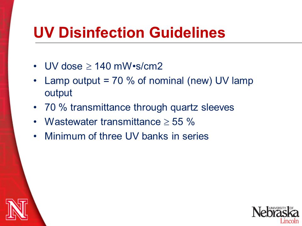 UV Disinfection Guidelines