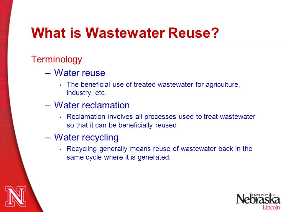 What is Wastewater Reuse