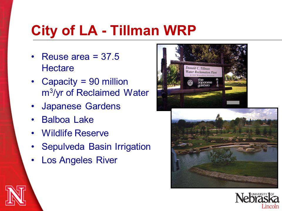 City of LA - Tillman WRP Reuse area = 37.5 Hectare