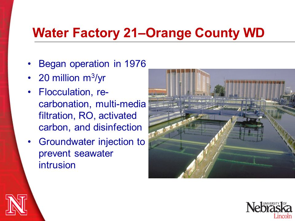 Water Factory 21–Orange County WD