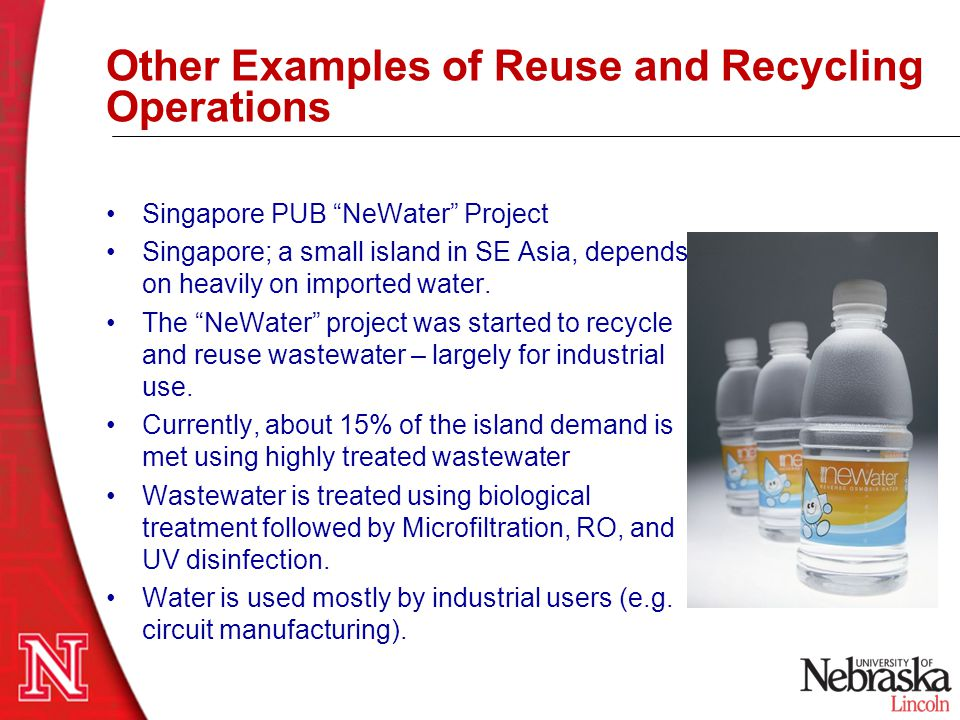 Other Examples of Reuse and Recycling Operations