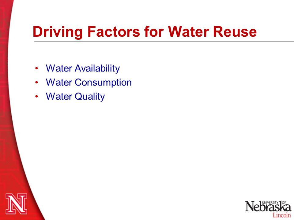Driving Factors for Water Reuse