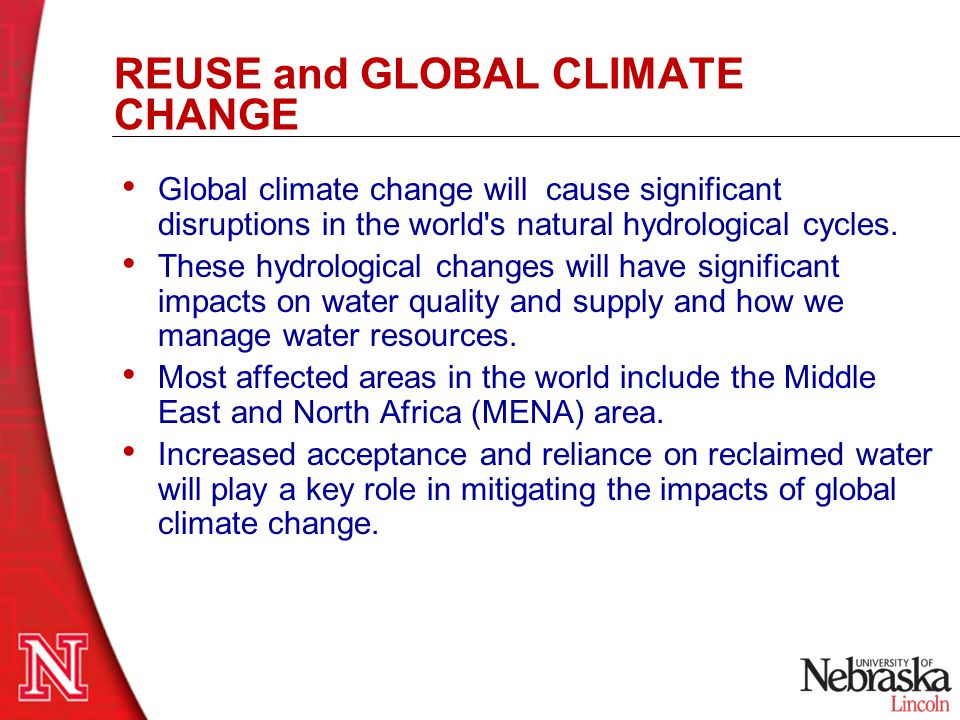 REUSE and GLOBAL CLIMATE CHANGE